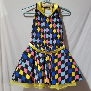 Multi color dancewear dress size XXLC